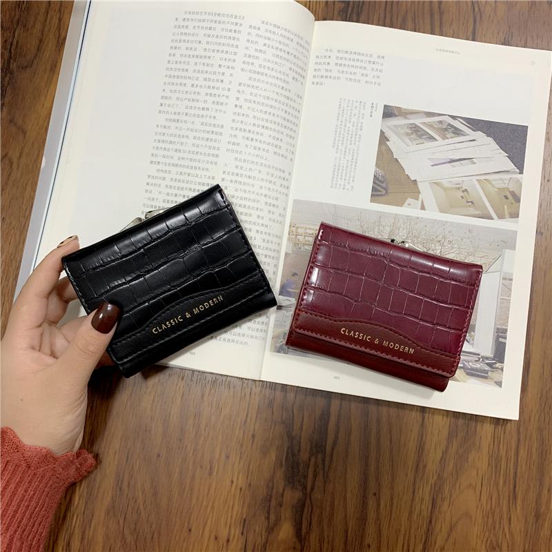 迷你钱包女短款2020新款韩版简约百搭小ck钱夹港风复古折叠零钱包