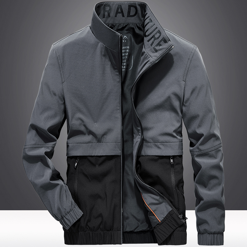 Tongshi stormsuit mens spring and autumn thin loose large work jacket mens autumn sportswear