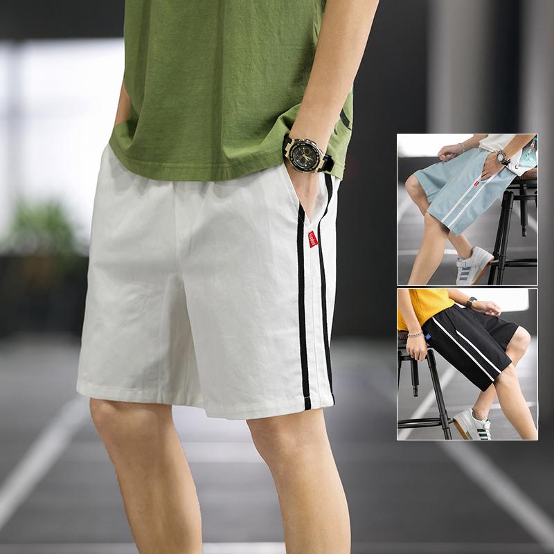 日系 篮球场 潮流休闲短裤男 夏季外穿薄款宽松五分裤 K160P30