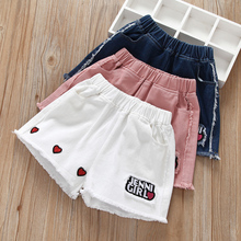 Girls'shorts, jeans, summer children's wear Korean version of leisure wear hot pants, holes in all sets of children's trousers summer dress