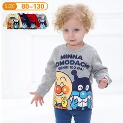 正品:面包超人勇士秋冬款加绒长袖T恤宝宝儿童卡通卫衣圆领打底衫