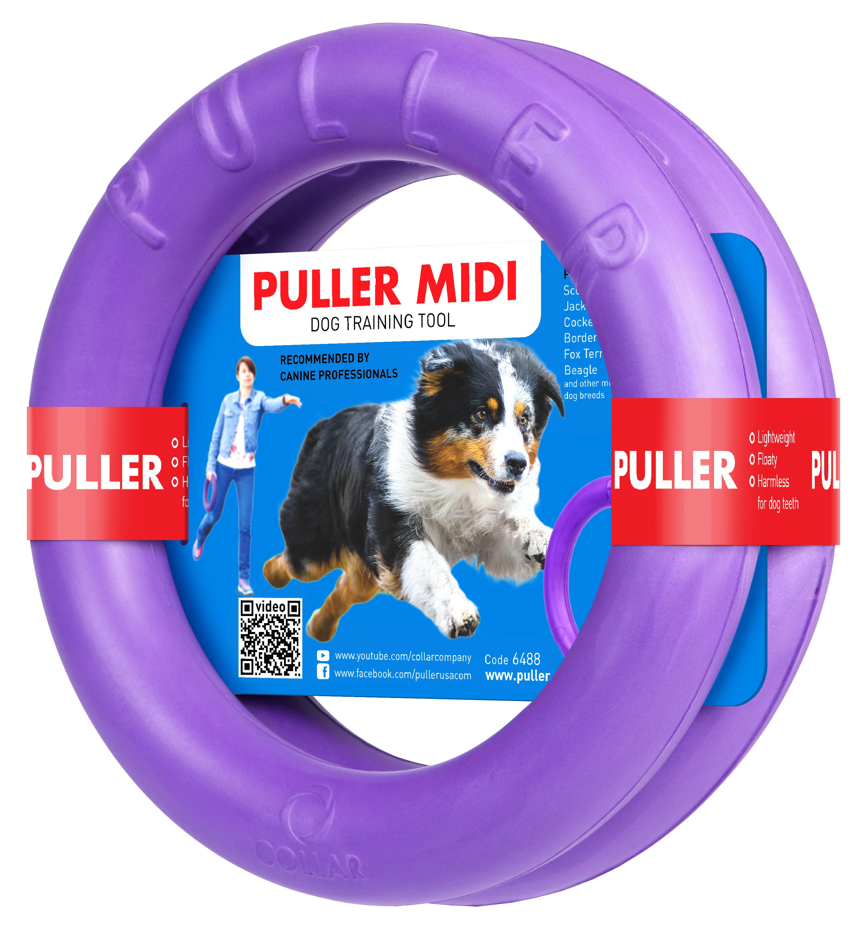 QZee乌克兰进口Puller狗狗玩具 紫环耐咬互动飞盘飞碟 特惠两个装
