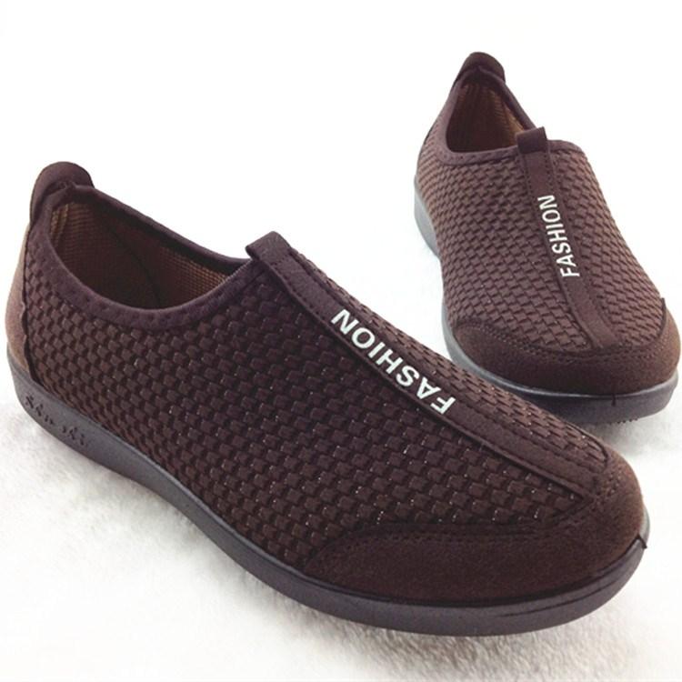 老北京布鞋女鞋舒适平底软底防滑一脚蹬奶奶妈妈中老年单鞋健步鞋