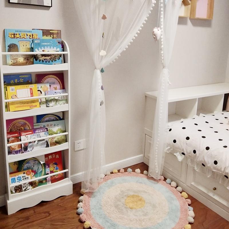 儿童书架绘本架落地实木幼儿书柜简易壁挂墙上宝宝书报置物架家用券后172.50元