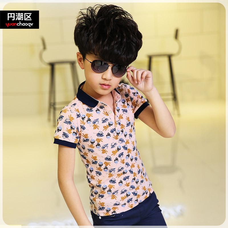 男童純棉中大童兒童polo衫
