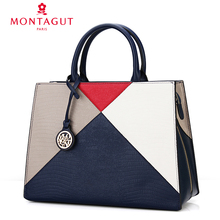 Ms. Mengte Girl Bag Handbag Large Bag of Cowskin Crocodile-print Single Shoulder Bag Simple European and American Joint Tide of Dai Fei Bag
