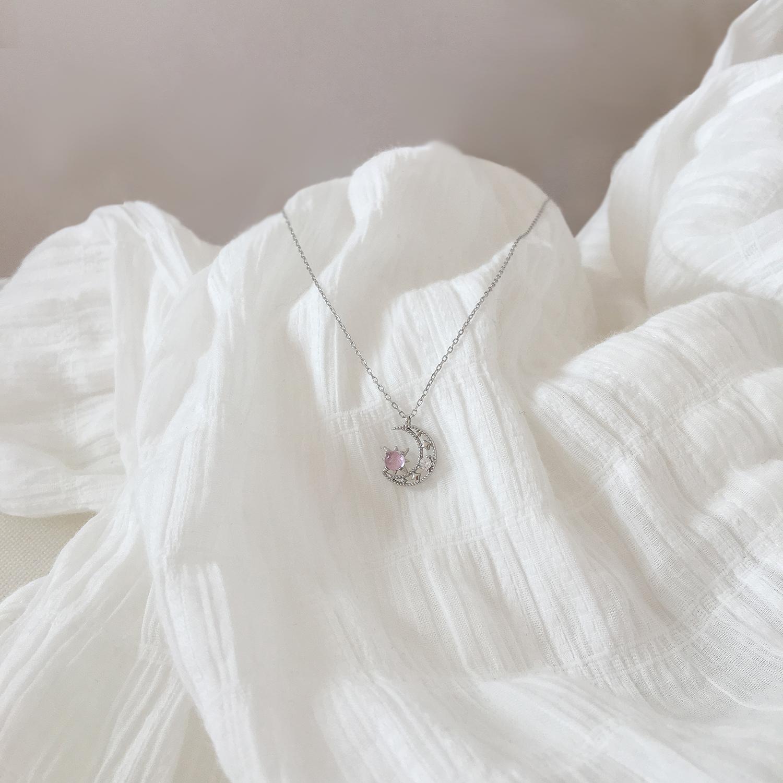 [耳伴饰品项链]少女心小物纯银项链女chic简约韩版月销量277件仅售39.9元