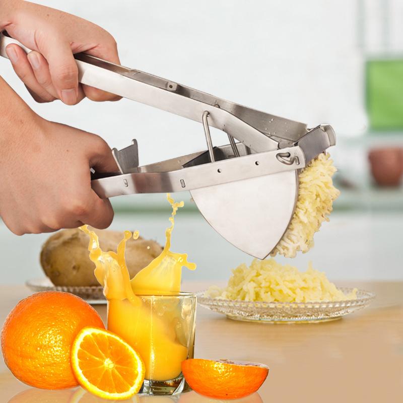 手动榨汁机大号石榴榨水果葡萄压汁挤汁器不锈钢压薯器压土豆泥机