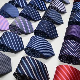 正装领带商务上班职业结婚新郎学生韩版8cm条纹男士手打领带男