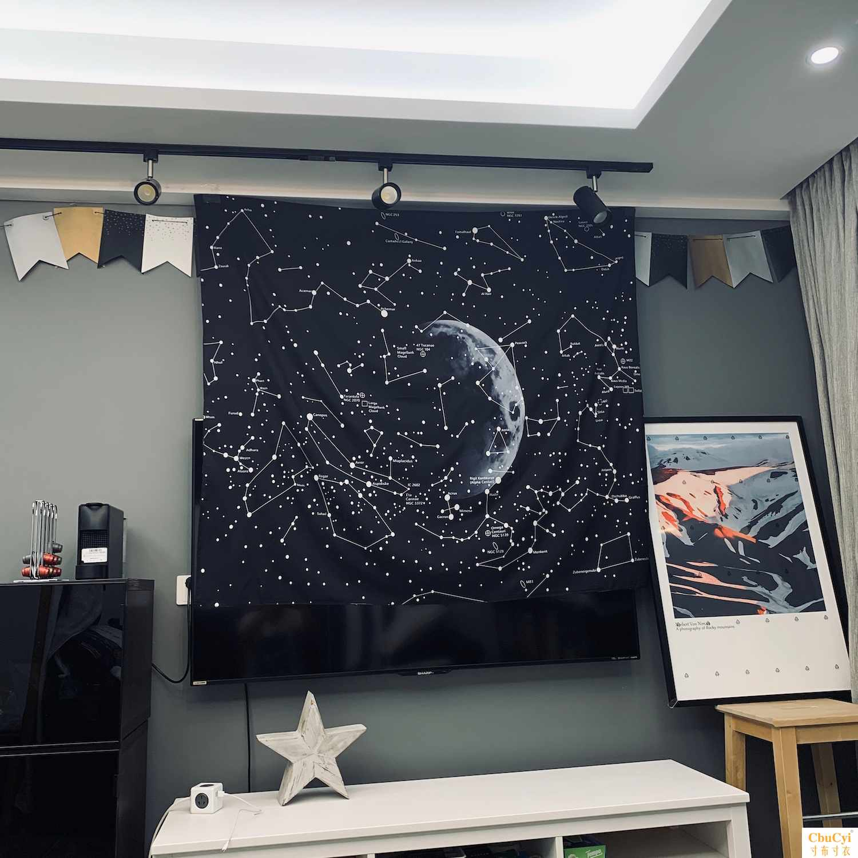 装饰布挂布墙饰挂毯INS宇宙星点电视背景墙背景布欧美拍照民宿
