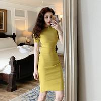 查看2021新款夏季包臀裙显瘦气质针织裙子紧身包裙夜场性感连衣裙女夏价格