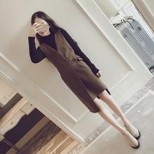 时尚马甲裙修身显瘦小香风连衣裙【两件套】