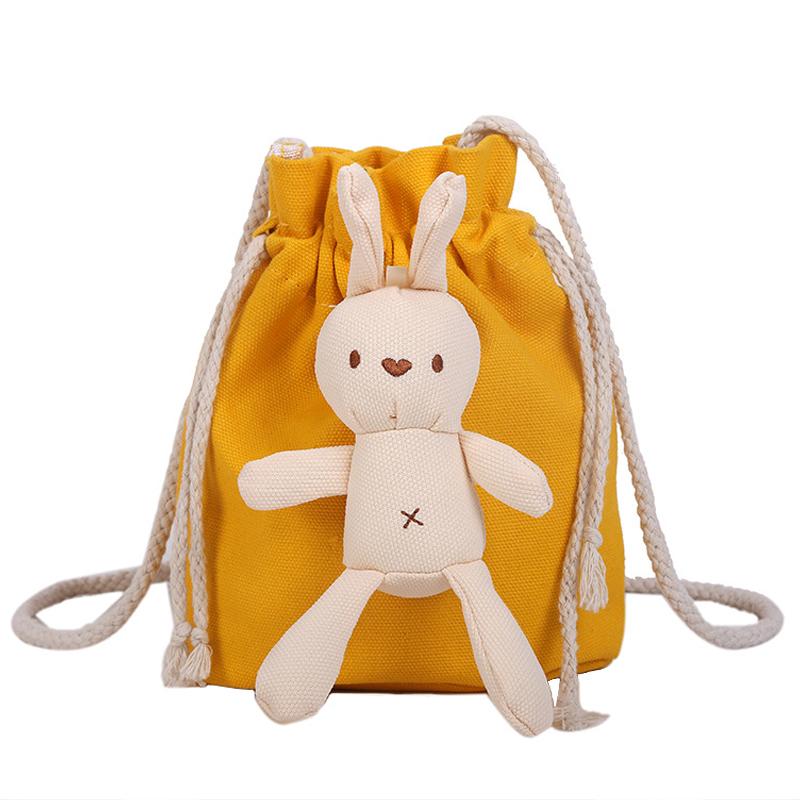 兔子玩偶小斜挎包儿童包包2019流行款少女心爆棚的网红洋气水桶包