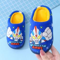 儿童棉鞋女童冬季加厚卡通加绒男童毛毛鞋包跟宝宝居家棉拖鞋冬鞋