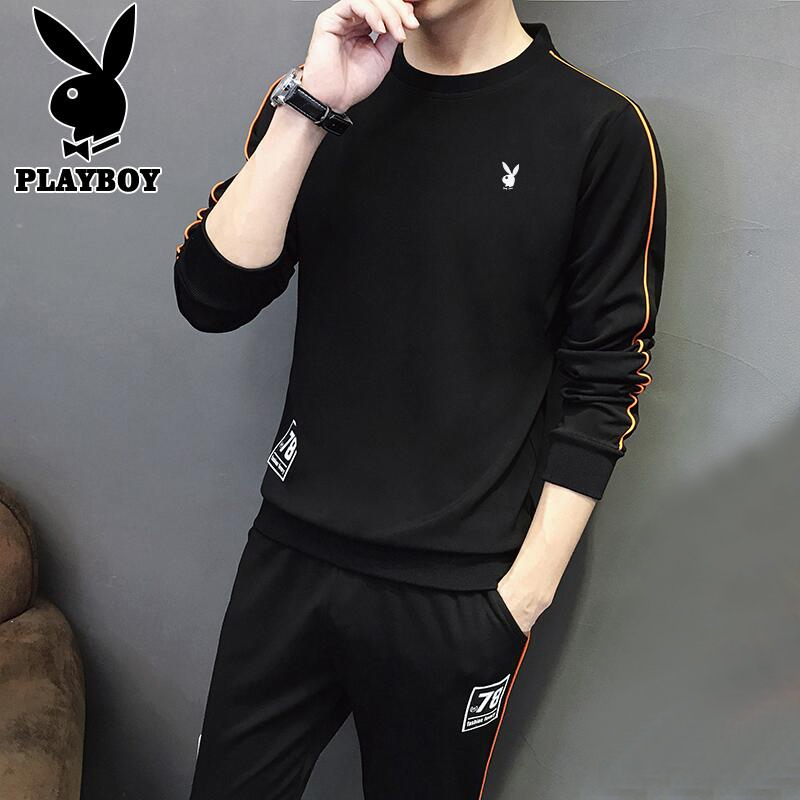 花花公子休闲运动套装男士卫衣两件春季青年韩版潮流搭配帅气一套 thumbnail