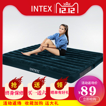 Intex Inflatable mattress Household Double air cushion sheet man raised thickened camping bed portable punching rollaway