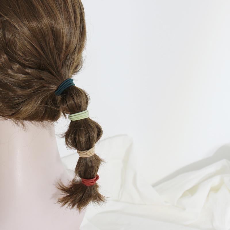 莫兰迪色系 编发网红ins糖果色基础皮筋简约少女发圈头绳扎头发饰