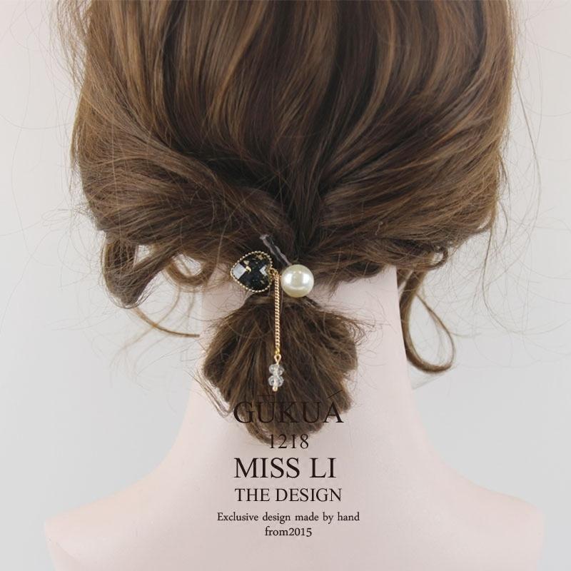 660M2018新款心形水晶韩版流行发绳发饰头饰头绳礼物少女心手环