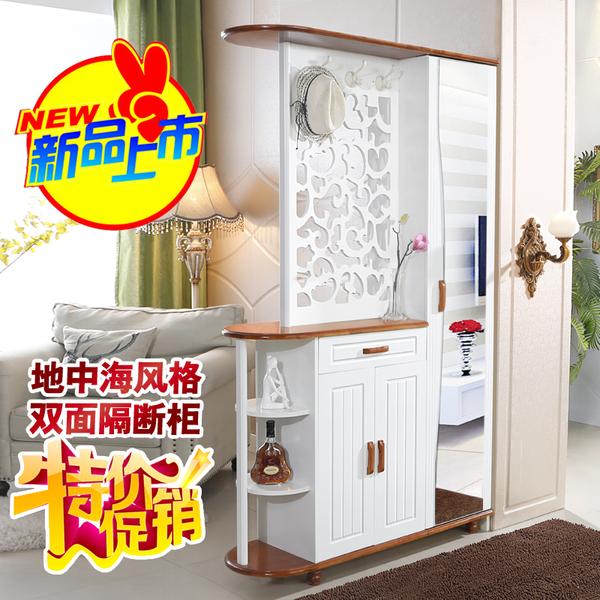 进门玄关柜隔断柜双面烤漆鞋柜现代简约客厅屏风装饰柜门厅柜酒柜