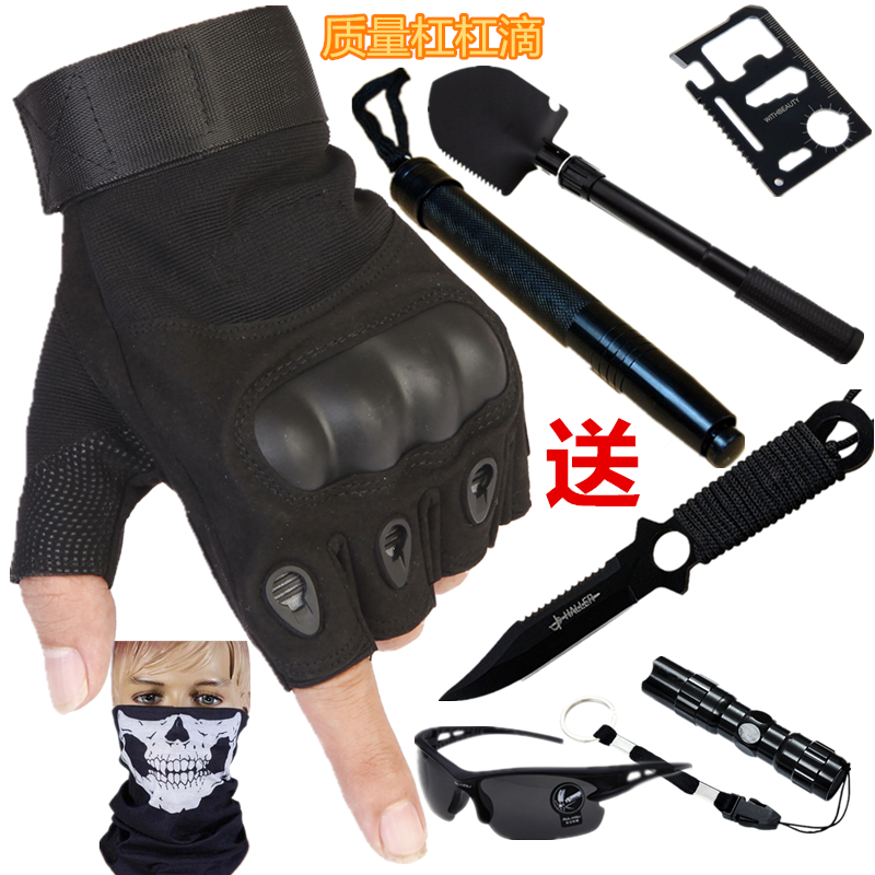 Russian special forces Half Finger tactical combat gloves mountaineering chicken eating men and women spring and autumn tactical antiskid riding half