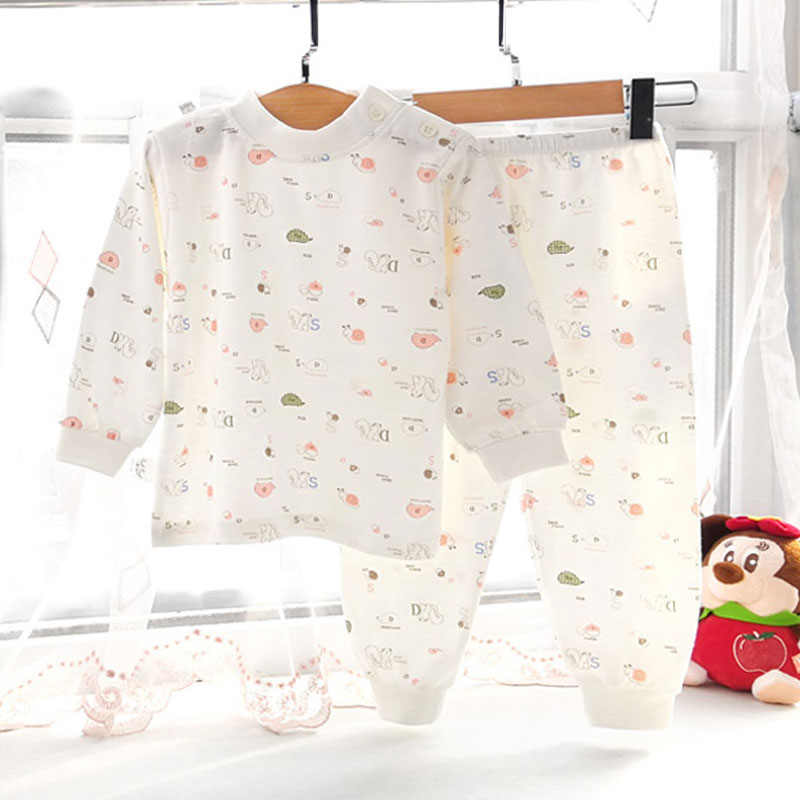 Childrens Cotton Underwear Set Baby spring and autumn bottoming clothes boys and girls cotton sweater students soft pajamas autumn and winter