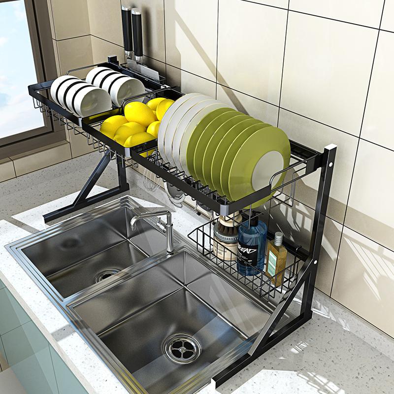 不锈钢水槽沥水篮晾碗架沥水架厨房置物架水龙头水池碗碟收纳神器,可领取10元天猫优惠券