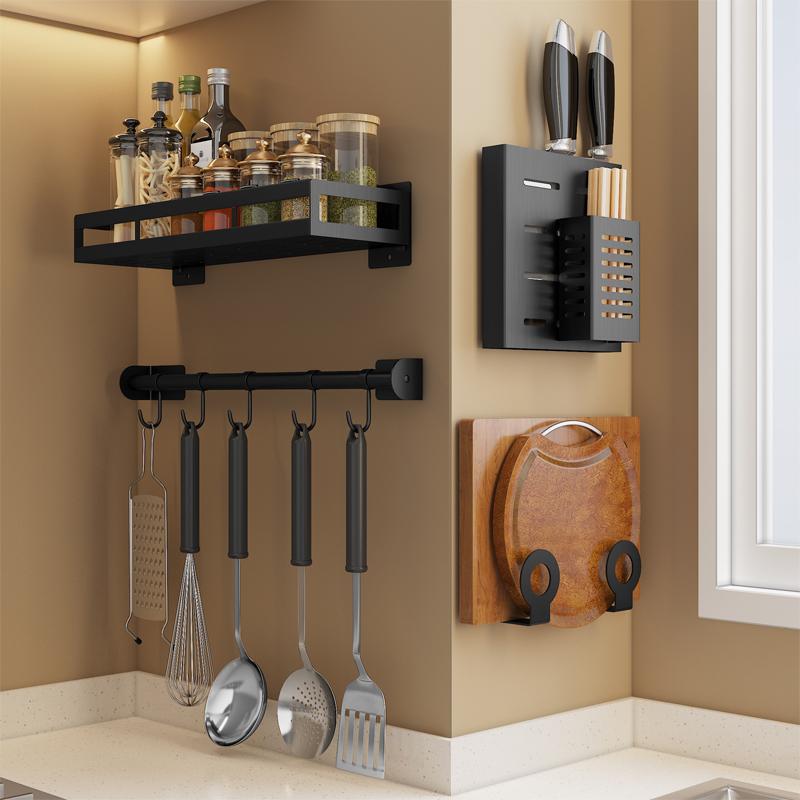 免打孔厨房置物架锅盖架壁挂式菜板架砧板架案板用品刀架收纳架