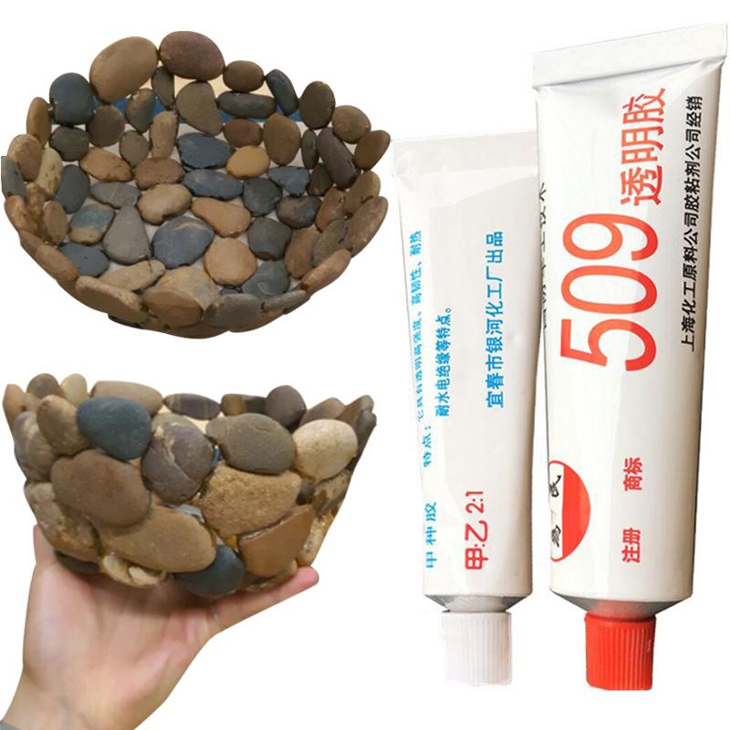 能粘石头的胶强力鱼缸造景粘鹅卵石胶水专用粘得牢沾石材防水抖音