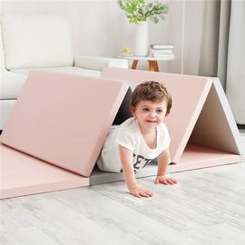 出口韩国宝宝爬行垫XPE加厚折叠4CM婴儿爬爬垫客厅拼接儿童游戏垫