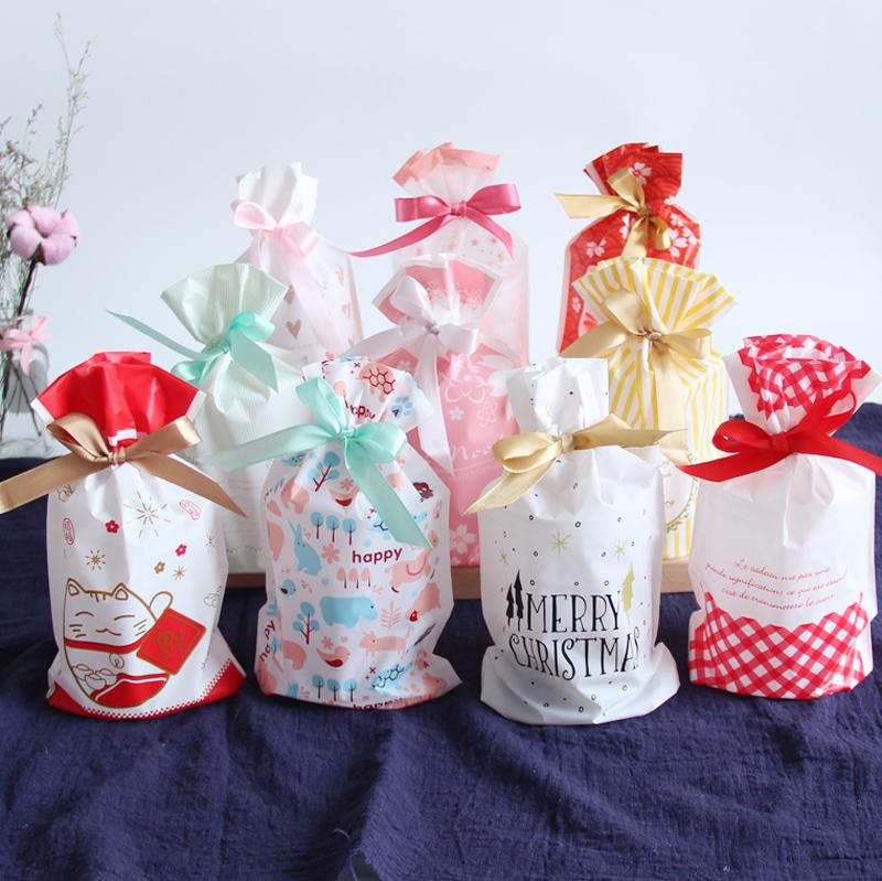 雪花酥包装袋 曲奇饼干袋糖果袋 牛轧糖束口袋抽绳袋 烘焙包装