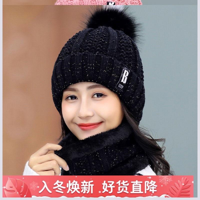 水貂邪恶女帽先生韩国范冰冰同款帽子铺头围兔绒冬自然贝雷帽胖妹