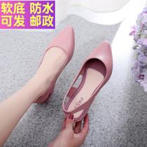 新款牛皮韩版仙女高跟鞋2020定制高跟一字扣露趾凉鞋女春季momo于