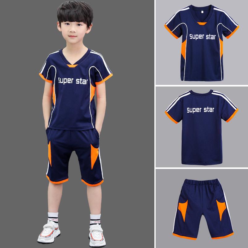 5儿童装男童夏装套装2018新款中大童韩版9夏季12运动男生短袖15岁