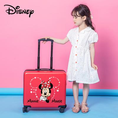 迪士尼儿童拉杆箱卡通行李箱男米奇米妮旅行箱女可坐万向轮登机箱