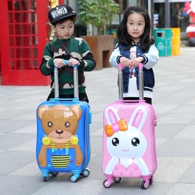 大途儿童拉杆箱男登机箱18万向轮可爱旅行箱卡通行李箱女书包20寸