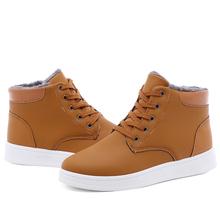冬季棉鞋雪地靴加绒保暖男鞋休闲中帮男靴 潮流学生皮靴 KF547p35