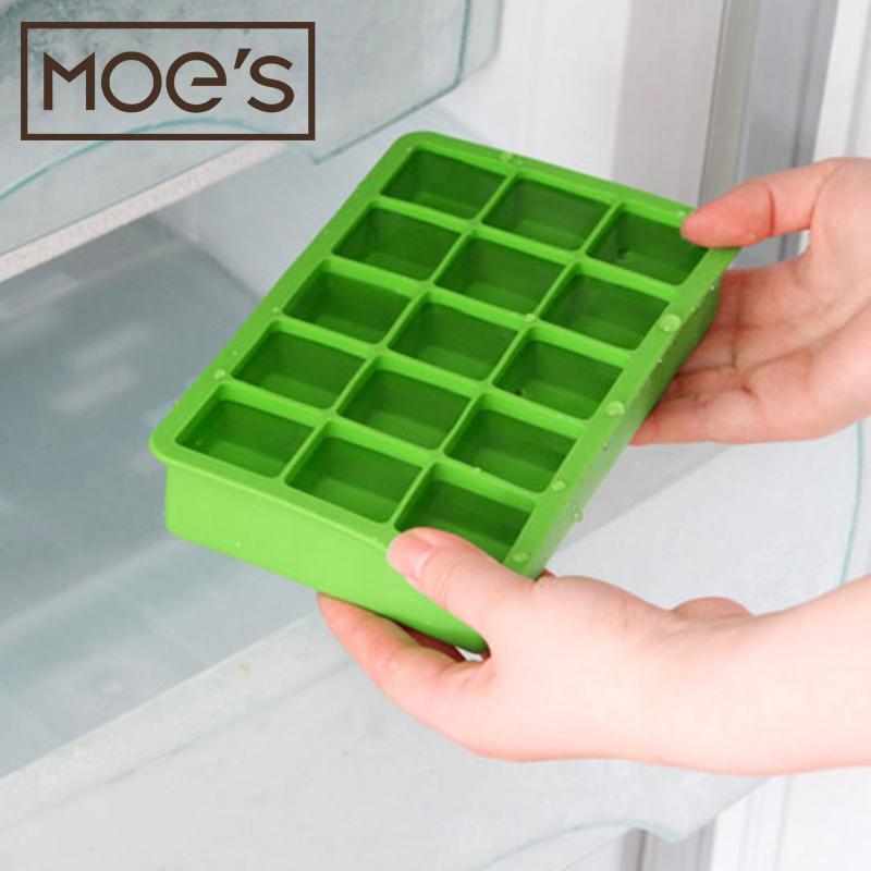 热销13件正品保证MOES 出口欧美 冰格制冰盒 冻冰块模具 硅胶冰格 婴儿宝宝辅食盒