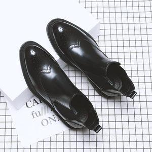 冬季黑色马丁靴男韩版潮流高帮男鞋
