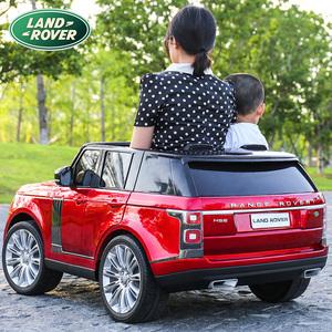 路虎儿童电动可坐双人遥控玩具车
