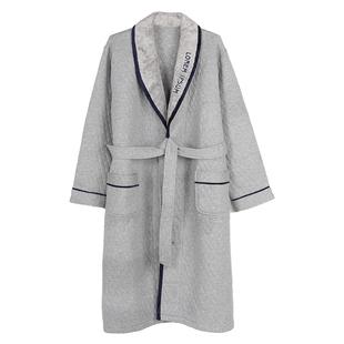 金爵豹纯棉夹棉男士加厚长款睡袍
