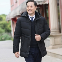 Father's cotton coat, male middle-aged man's winter coat, cotton padded jacket, plush and thickening, middle-aged and old people's winter down cotton coat, Grandpa