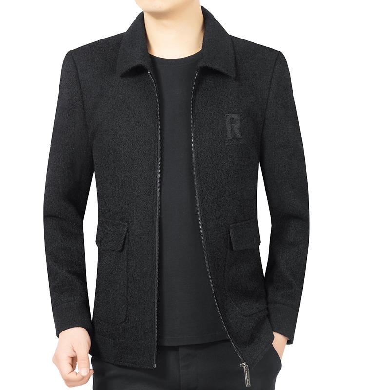 Qipai spring new jacket mens wool casual jacket mens wool jacket