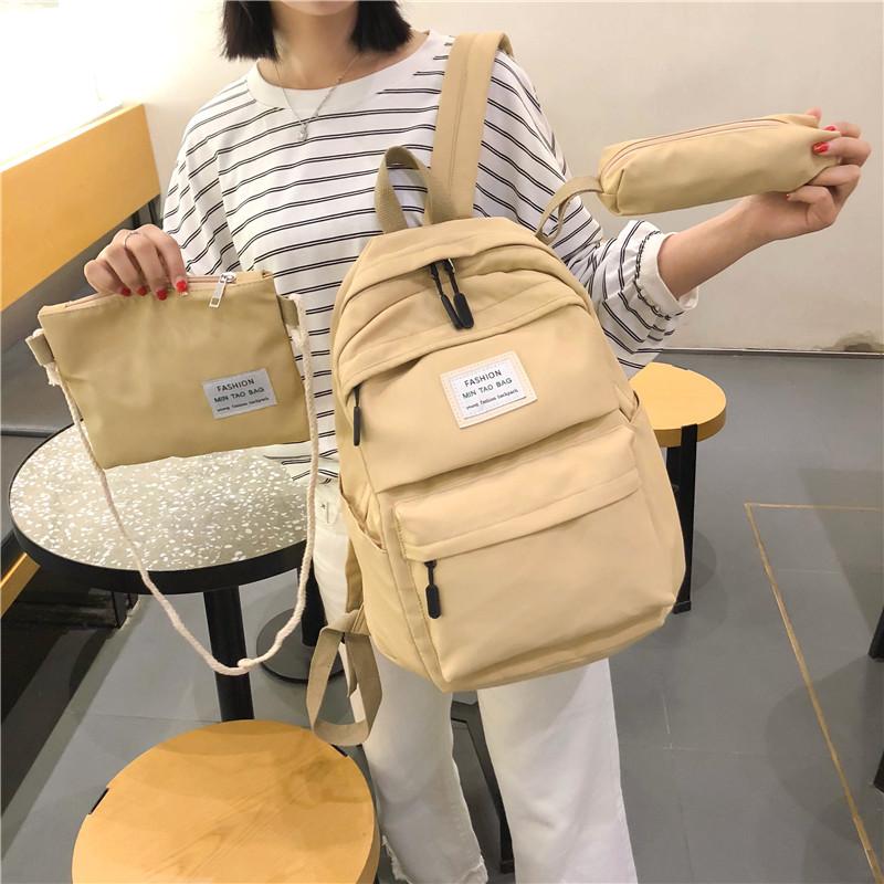 11月06日最新优惠ins书包女 日系韩版原宿ulzzang 高中大学生双肩包古着感校园背包