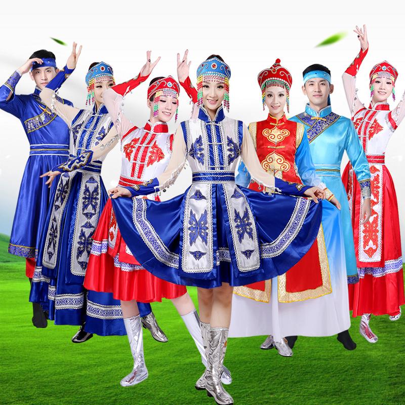 蒙古族演出服女装新款成人少数民族舞蹈服装舞台表演服装蒙古裙袍