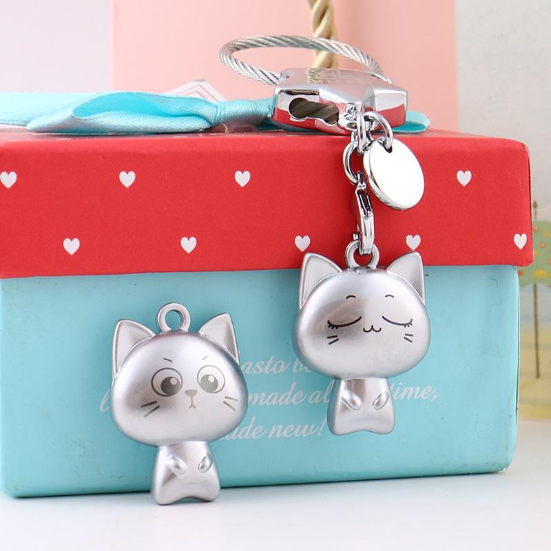 钥匙扣情侣一对简约小猫咪挂件女款可爱网红钥匙扣ins创意钥匙链券后35.00元