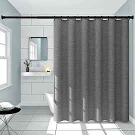 浴室加厚防水帘卫生间浴帘套装免打孔保暖洗澡帘防霉隔断帘窗帘子