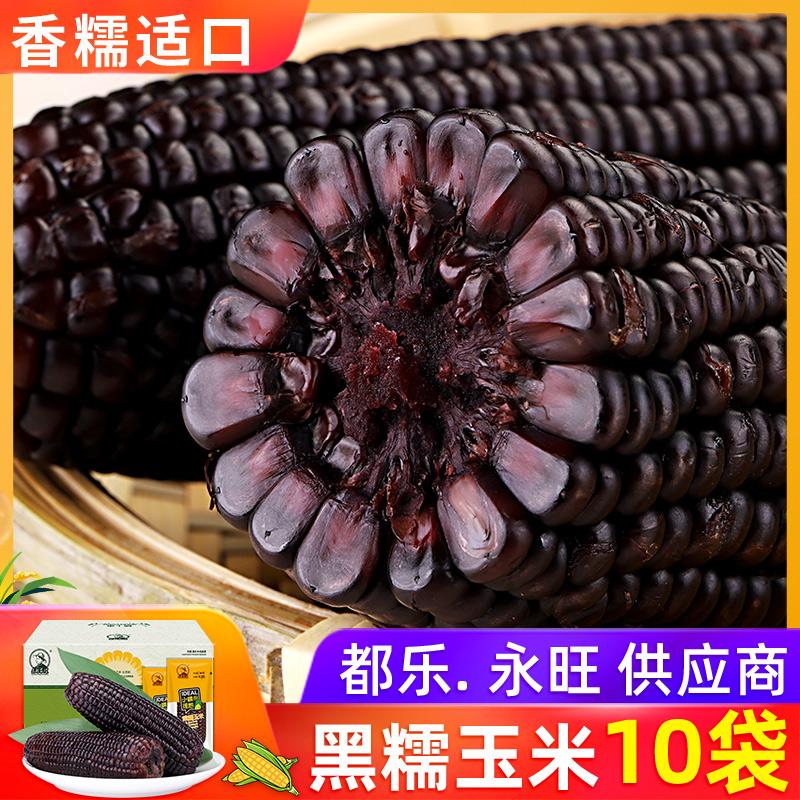 【10袋x200克】东北农嫂黑糯玉米穗紫粘玉米真空儿童锁鲜