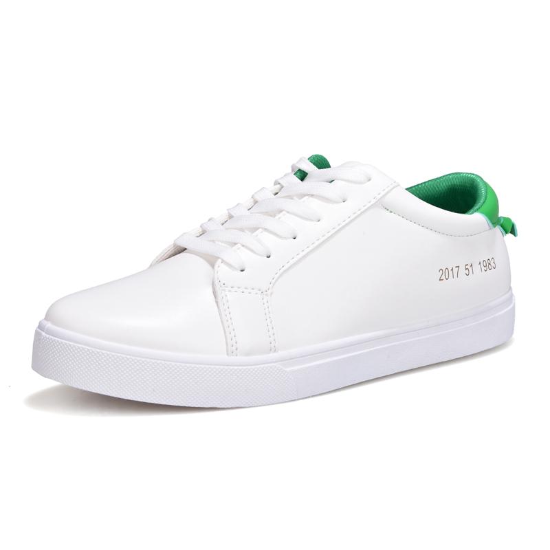 男士透氣 白色 板鞋