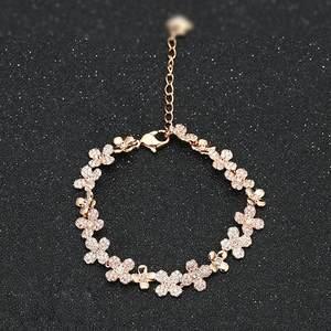 施华奥地利水晶 elderflower 玫瑰金花朵手链专柜正品礼物5253672