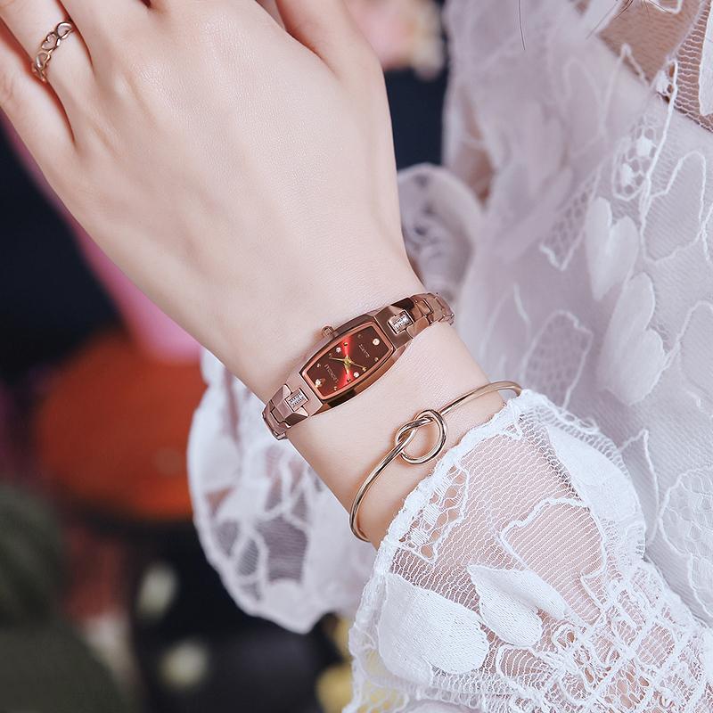 2020年新款手链钨钢手表女简约气质防水名牌细带小巧石英表女正品